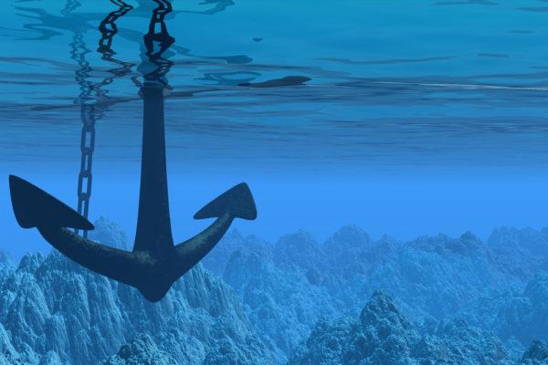 Anker im Meer