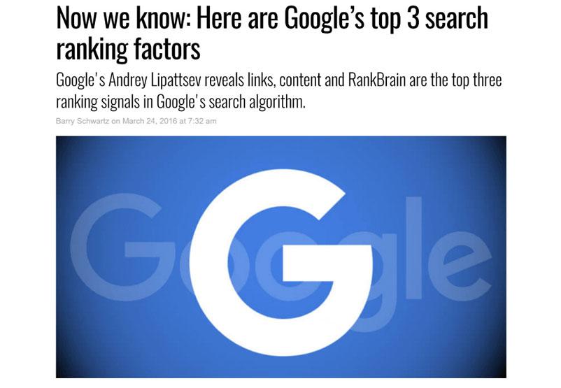 google bestätigt rankingfatktoren
