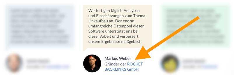 testimonial backlink